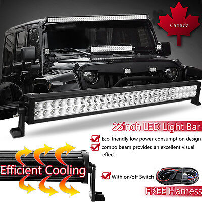 "22"" inch 120w LED Light Bar Work Flood Spot Offroad Truck Jeep Driving SUV 20 24"