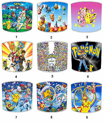 Lampshades Ideal To Match Pokemon Duvets, Pokemon Wallpaper & Pokemon Wall Art.