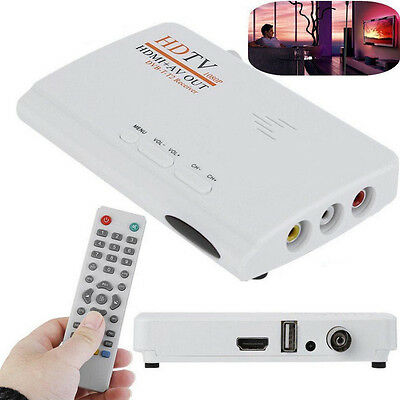 Digital HD 1080P DVB-T-T2 TV Box HDMI AV Receiver Remote Control EU Plug