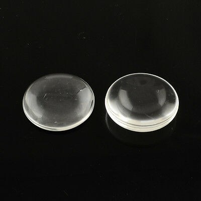 10pcs Clear Transparent Flat Round Glass Cabochons DIY Jewelry Findings 25x6mm