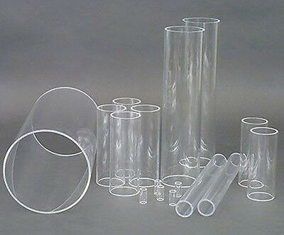 Clear Acrylic Round Tube Perspex Hollow Plastic Pipe Candle Gloss Transparent