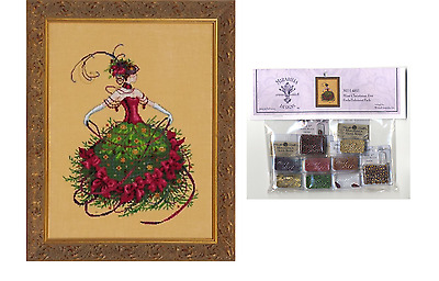 MIRABILIA Cross Stitch PATTERN and EMBELLISHMENT PACK Miss Christmas Eve MD148