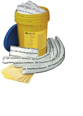 3m Chemical Spill Kit SK 26 - Safety Spill Control Equipment 26 Litre Capacity
