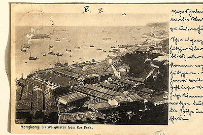 24667 PC Postcard HONG KONG Native Quarter from the Peak 1902
