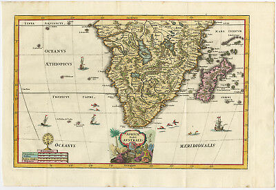 Antique Print-AFRICAE PARS AUSTRALIS-SOUTHERN AFRICA-Scherer-1702