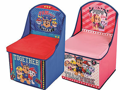 Paw Patrol Childrens Kids Foldable Toy Storage Box Chair Seat Marshall Chase