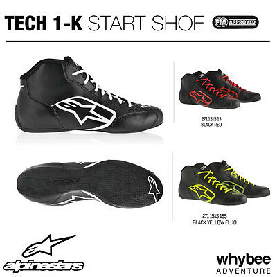 Sale! 2712013 Genuine Alpinestars TECH-1 K KART BOOTS Lightweight Shoes Karting