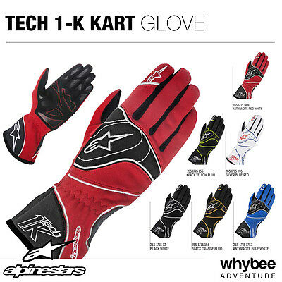 Sale! 3551715 Alpinestars TECH 1-K KART RACING GLOVES KARTING SIZES S-XXL