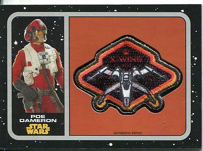 Star Wars JTTFA Patch Card P-7 X-Wing Fighter: Poe Dameron