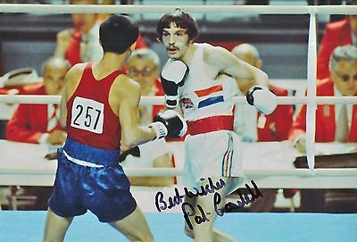 Pat Cowdell Hand Signed Olympics 12x8 Photo.