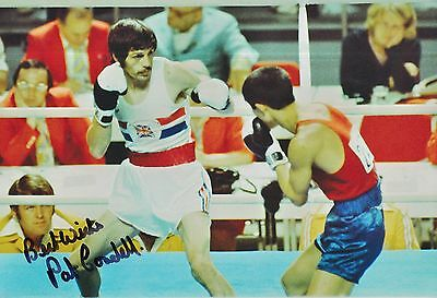 Pat Cowdell Hand Signed Olympics 12x8 Photo 1.