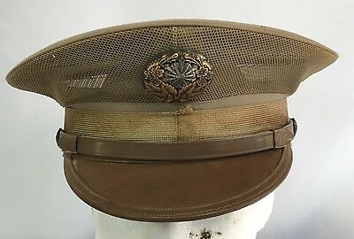 Vintage Japanese Policeman's Khaki Dress Hat