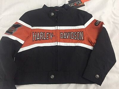 NWT Harley Davidson kids boys nylon spring summer coat Jacket 2T NEW motorcycle