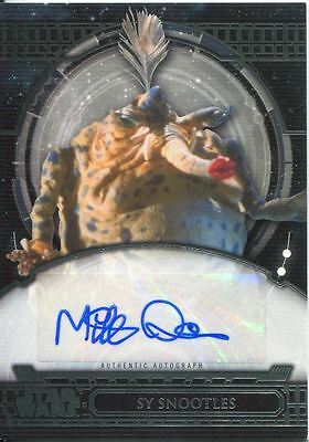 Star Wars 40th Anniversary Autograph Card Mike Quinn as Sy Snootles
