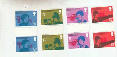 1976 All Gb Sets Issued In Gutter Pairs Umm/mnh