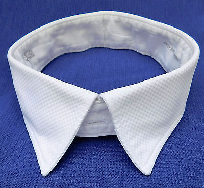 "Akco Marcella shirt collar size 16 1/2"" white vintage 1960s mens evening wear"