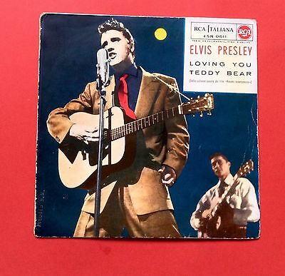 Elvis Presley-Very Rare Moon Cover/blue Label Teddy Bear From Italy