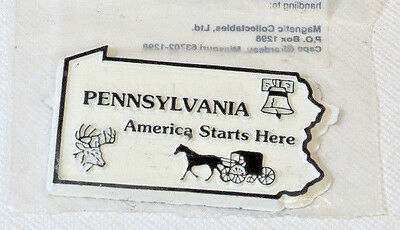 The Original Collectibles Magnet State Pennsylvania America Starts Here NOS