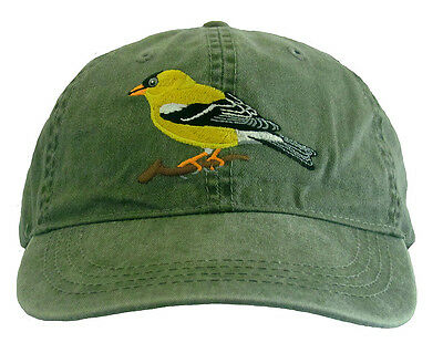 American Goldfinch  Embroidered Cotton Cap NEW Hat Bird Finch