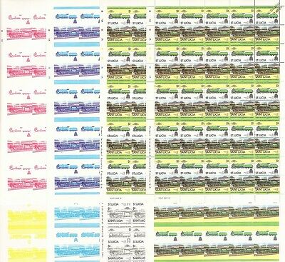 1930 Southern Railway ETON Train Progressive Proof 50-Stamp Sheets x 8 (Imperf)