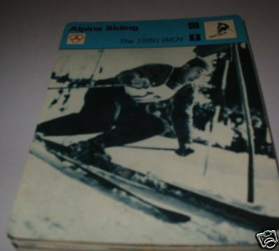 1950 WCH - Alpine skiing SC Collector card