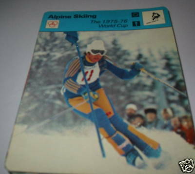 1975-76 world cup  - Alpine skiing SC Collector card