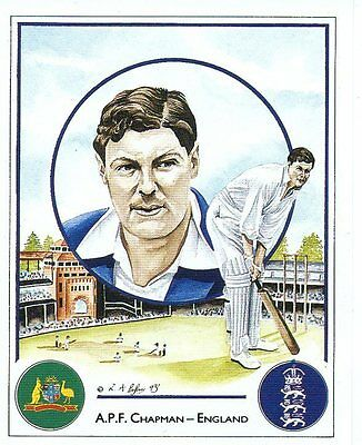 12 A P F Chapman - England Captain Cricket Card