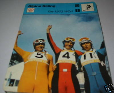 1972 WCH - Alpine skiing SC Collector card