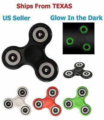 Glow in the Dark Purple Hand Spinner Kid Finger Spiral Bearing Fidget Desk Toy