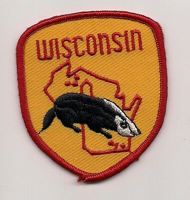 Souvenir Patch State Of Wisconsin - Badger State