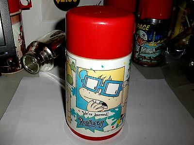 RugRats`1997`Hit Tv Show,By Viacom Int.Plastic Lunch Box-Thermos-:>Free To US