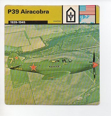 P39 Airacobra - Air Force - Weapons - WWII Card