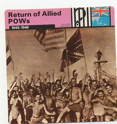 Return of Allied POWs - Prisoners of War - Occupied Territories - WWII Card
