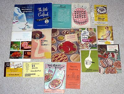 Lot Of 16 Books / Booklets With Recipes / Read List To See What You Get !!!