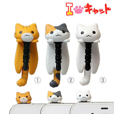 2pcs 3.5Mm Universal Cute Cat Dust Plug Phone Earphone Jack Dustproof Stopper