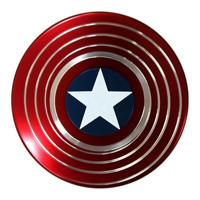 Captain America Fidget Hand Spinner Shield EDC Focus Toy for ADHD Autism Adult