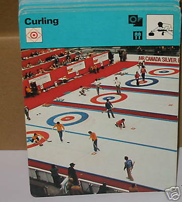 curling winter sports Collector card