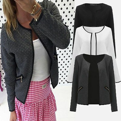 Womens Ladies Casual Blazer Office Suit Bussiness Coat Jacket Top Outwear S-4XL