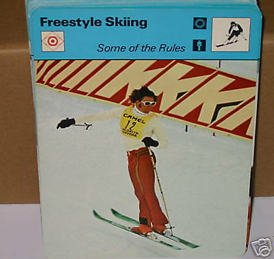 Freestyle skiing RULES winter sports Collector card