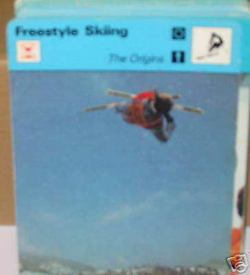 Freestyle skiing origins winter sports Collector card