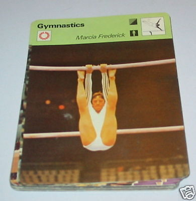 Gymnastics - Marcia frederick SC Collector card