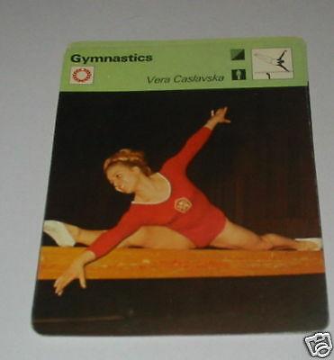 Gymnastics - Vera Caslavska SC Collector card