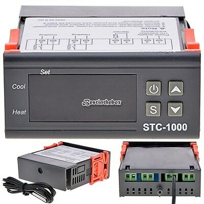 Digital STC-1000 All-Purpose Temperature Controller Thermostat With Sensor B98B