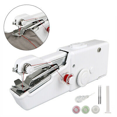 Protable Hand Held Cordless Sewing Machine Quick Stitch Clothes Fabric Repair