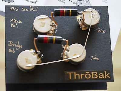 ThroBak Maximum Vintage 1950's Repro Les Paul Wiring Harness