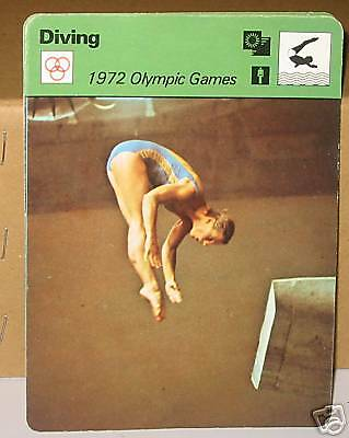 Ulrika Knape at 1970 Olympic Game diving Collector card