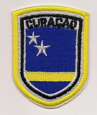 Country Of Curacao Souvenir Travel Patch (Yellow)