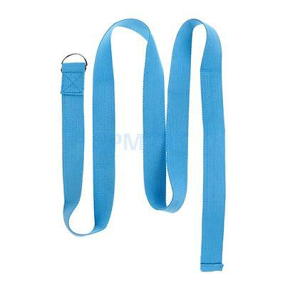 Yoga Strap D-Ring Belt Band Fitness Training Waist Leg Exercise Cotton Strap