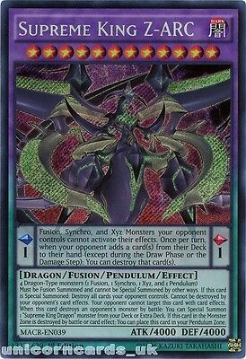 MACR-EN039 Supreme King Z-ARC Secret Rare 1st Edition Mint YuGiOh Card