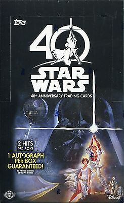 Star Wars 40th Anniversary Factory Sealed Hobby Box